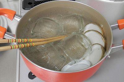 ジャム-瓶の煮沸1