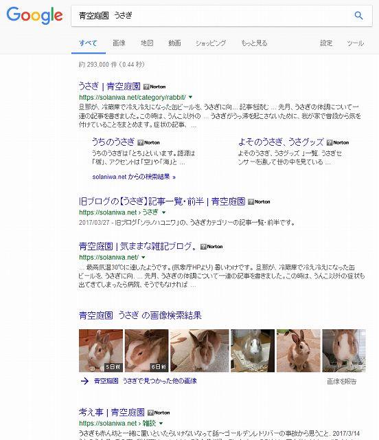 「青空庭園 うさぎ」検索結果