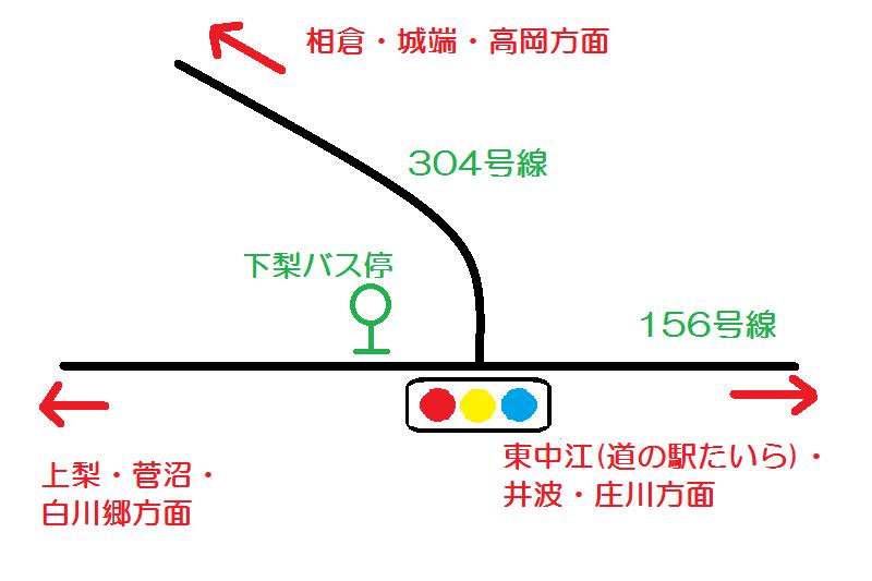 下梨交差点図