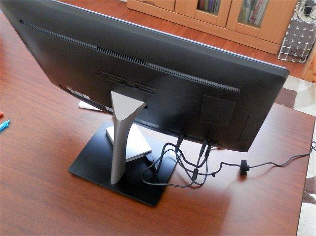 パソコンの裏面