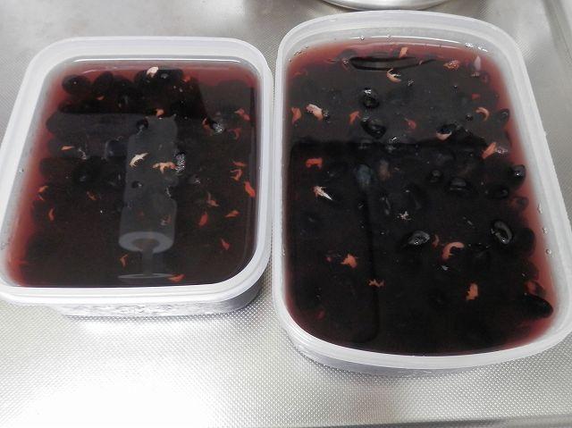 黒豆:浸水終了