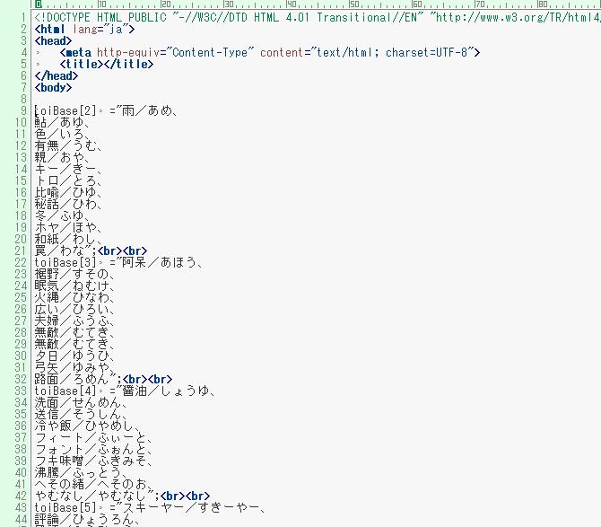 出題ファイル(HTML:エディタ)