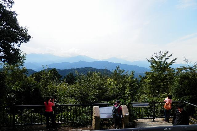高尾山山頂からの眺め