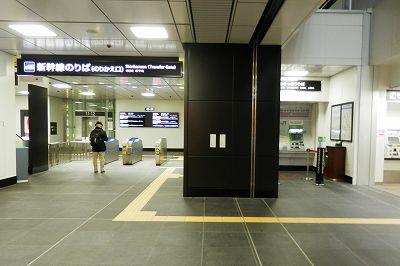 富山駅の北陸新幹線改札(2階)