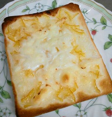 柚子ジャムチーズトースト