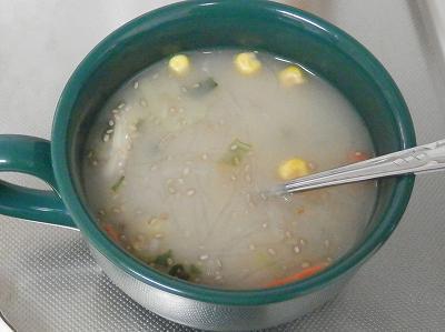 チアシードと春雨スープ