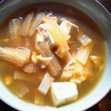 大根と舞茸の味噌汁