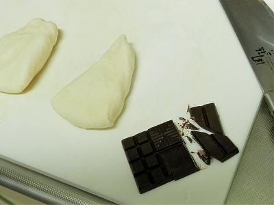 チョコ巻きパンの準備