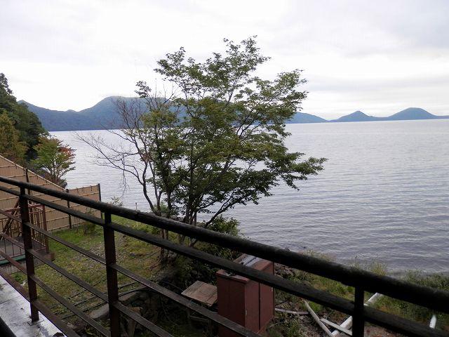 丸駒温泉旅館から見た支笏湖