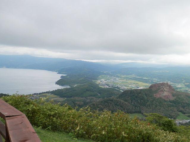 有珠山の洞爺湖展望台から眺望
