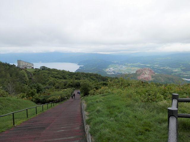 有珠山火口原展望台へ向かうルート