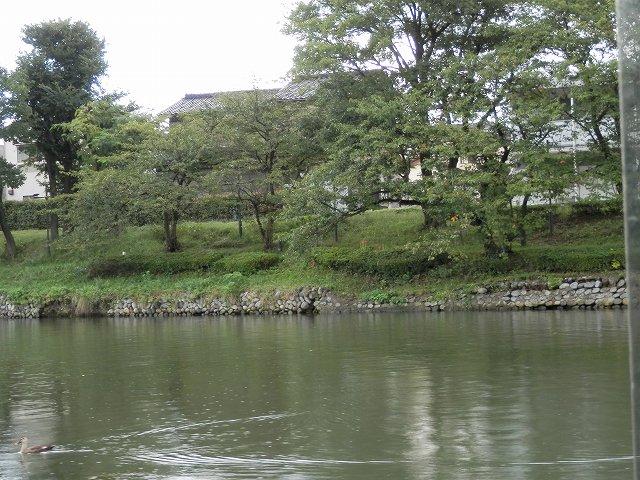 中島閘門から先の右側の様子