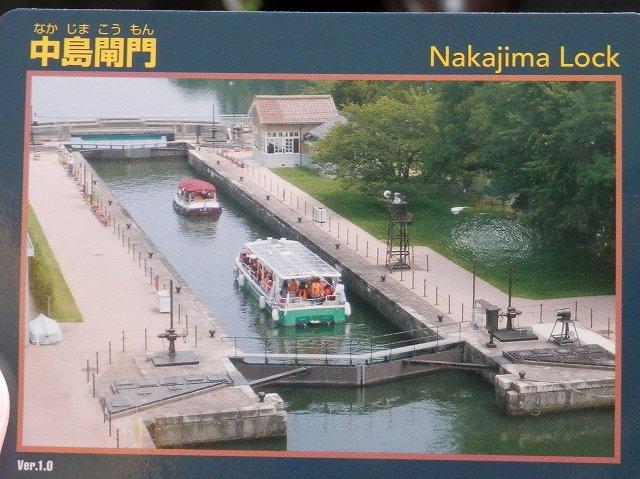 中島閘門を上から見た様子
