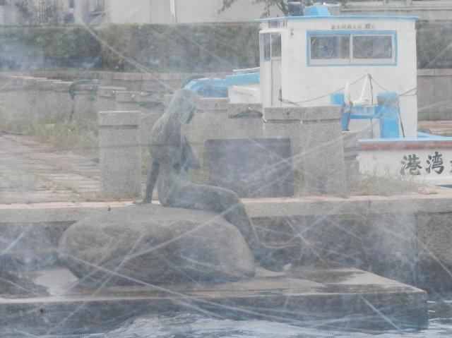 岩瀬運河入口の人魚
