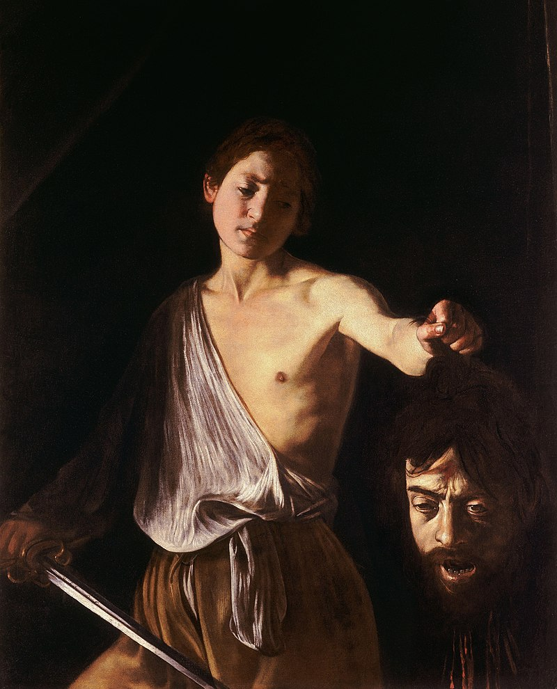 ゴリアテの首を持つダヴィデ-カラヴァッジョ