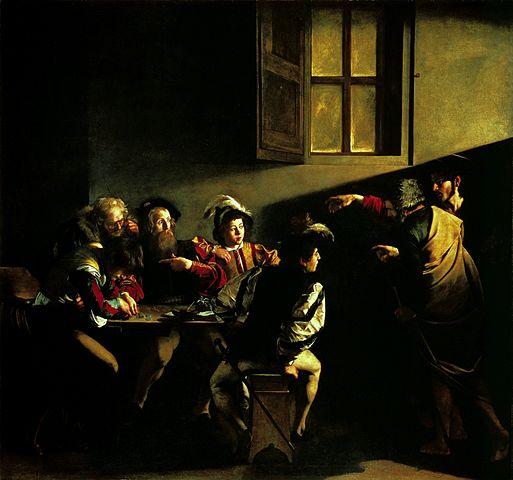 聖マタイの召命-カラヴァッジョ