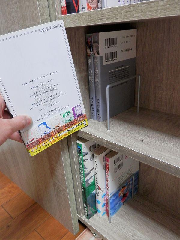 下側、棚板上段、マンガ(3連本棚)