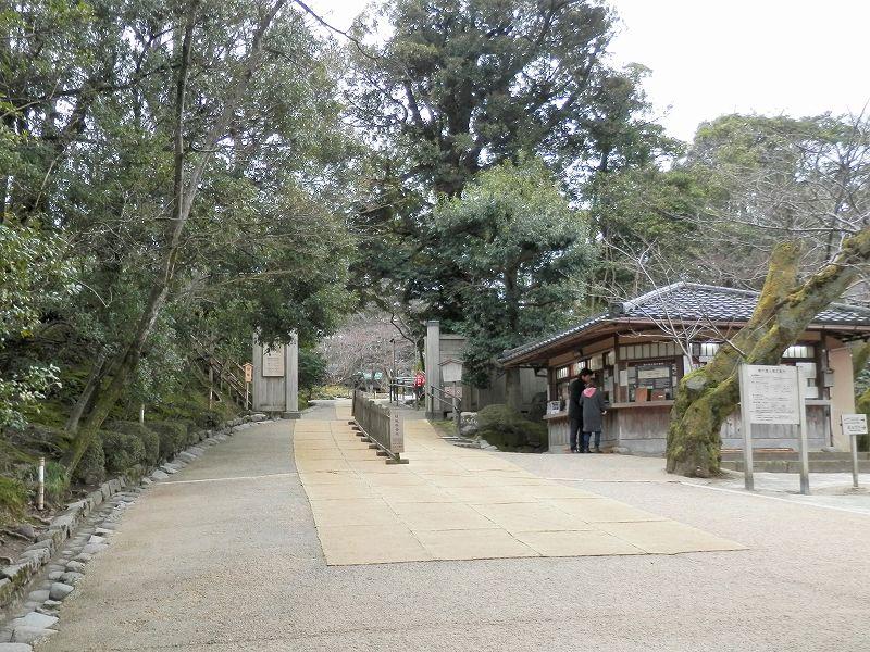 兼六園の桂坂入口