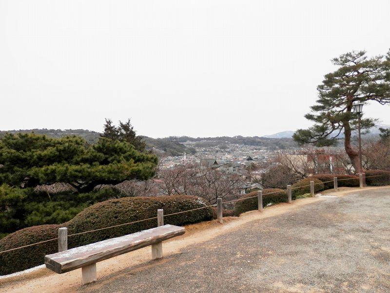 眺望台から金沢市内(兼六園)