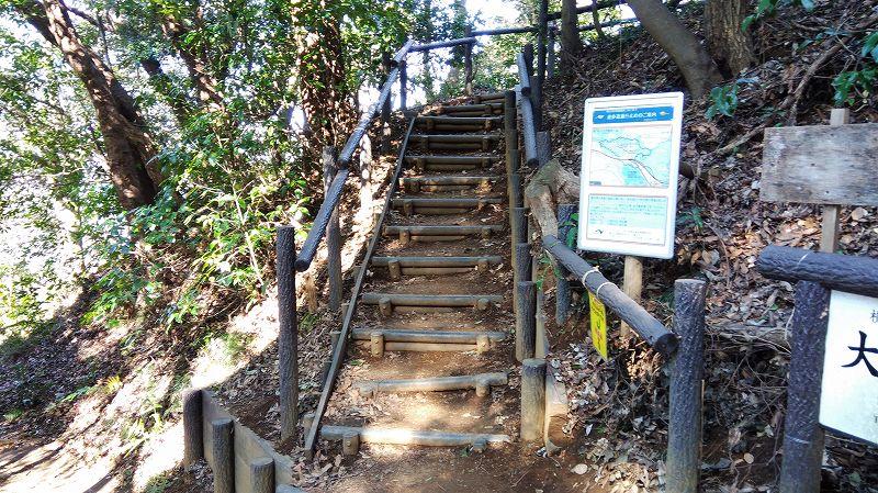 大丸山山頂への階段(円海山)